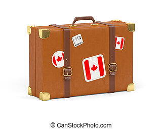 Suitcase with flag of canada - Travel suitcase with flag of...