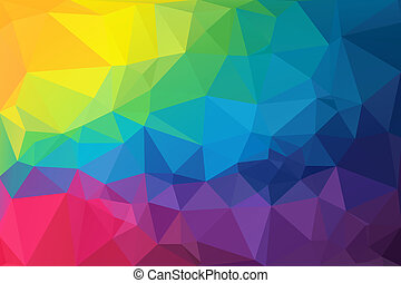 Triangle Abstract 5 - Colorful Low Polygon Random Triangle...