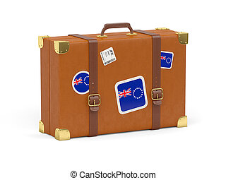 Suitcase with flag of cook islands - Travel suitcase with...