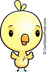 Cartoon Baby Chick - A cartoon illustration of a baby chick...