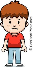 Cartoon Boy Sad - A cartoon boy with a sad expression