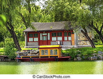 Boat Buidling Canal Summer Palace Beijing China - Boat...
