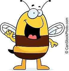 Cartoon Bee Waving
