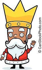 Cartoon King Waving - A cartoon illustration of a king...