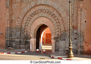 Bab Agnaou - one of the nineteen gates of Marrakech, Morocco