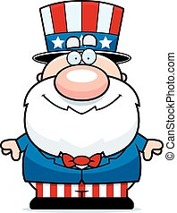Cartoon Patriot - A cartoon illustration of a patriotic man...