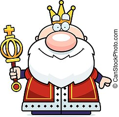Cartoon King Scepter - A cartoon illustration of a king with...