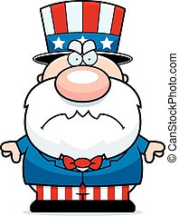 Mad Cartoon Patriot - A cartoon illustration of a patriotic...