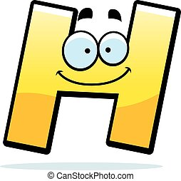 Cartoon Letter H - A cartoon illustration of a letter H...