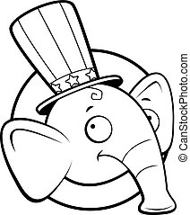 Republican Elephant - A cartoon icon with a republican...