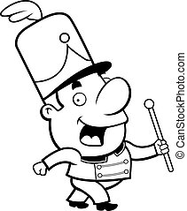 Marching Band Hat Cartoon Marching Band Conductor - A