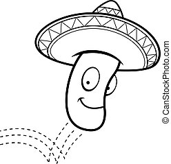 Jumping Bean - A cartoon Mexican jumping bean with a...