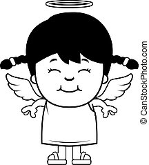 Little Angel - A cartoon illustration of a girl angel...