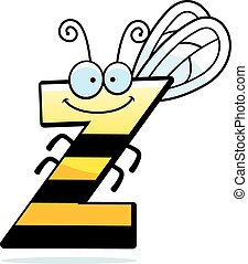 Cartoon Letter Z Bug - A cartoon illustration of the letter...