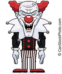 Cartoon Evil Clown - A cartoon illustration of an evil...