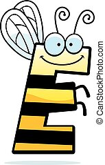Cartoon Letter E Bug - A cartoon illustration of the letter...