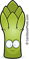 Cartoon Asparagus Smiling