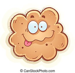 Cartoon Fart Smiling - A cartoon illustration of a fart...