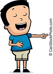 Cartoon Boy Laughing - A cartoon illustration of a boy...