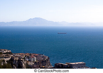 Panoramic view of Gibraltar - Panoramic view from Gibraltar...
