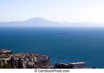 Panoramic view of Gibraltar - Panoramic view from Gibraltar....