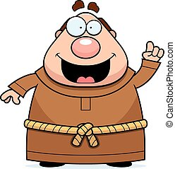 Cartoon Monk Idea - A cartoon illustration of a monk with an...