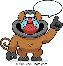 Cartoon Baboon Talking - A cartoon illustration of a baboon...