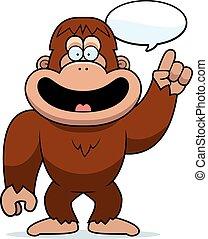 Cartoon Bigfoot Talking