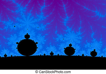 Fractal Landscape - a digitally generated colorful fractal...