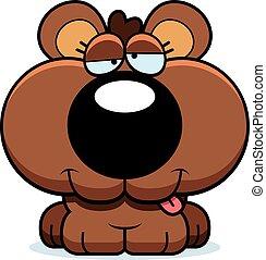 Cartoon Goofy Bear Cub