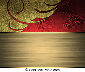 Abstract background for design with gold ribbon