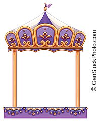 A merry-go round - A purple merry-go round ride at the...
