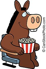 Cartoon Donkey Movies - A cartoon illustration of a donkey...