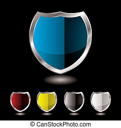 shield five variation - Collection of five shields with...