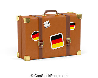 Suitcase with flag of germany - Travel suitcase with flag of...