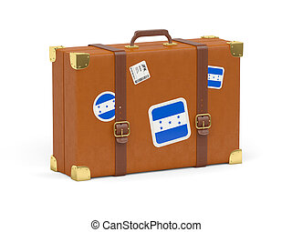 Suitcase with flag of honduras - Travel suitcase with flag...