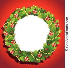 Beautiful Christmas Wreath frame - Christmas Wreath frame on...