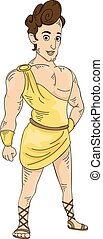 Greek God - Illustration Featuring a Young and Muscular...