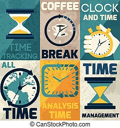 Time management poster - Time management mini posters with...