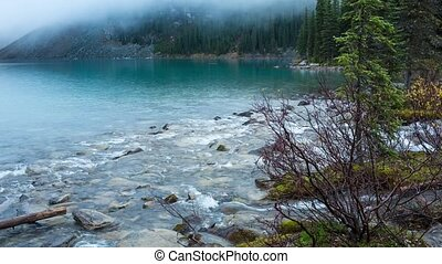 Moraine lake inlet creek