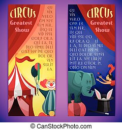 Circus banner vertical - Circus greatest show vertical...