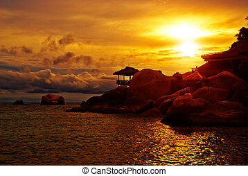 Sunset Villa in Rocks - Sunset Villa Standing in Rocks on...