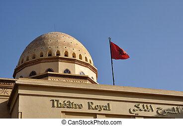 Theatre Royal in Marrakech, Morocco
