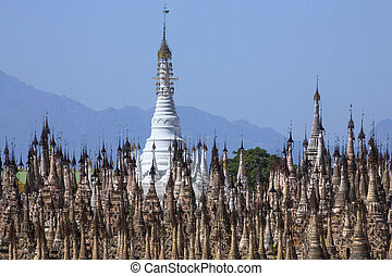 Kakku Temple Complex - Shan State - Myanmar - Stupa in the...