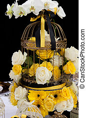 Wedding table decoration - Decoration of wedding table with...