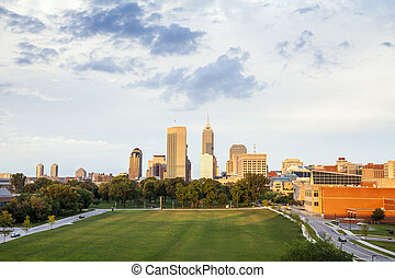 Indianapolis Downtown, Indiana, USA - Downtown of...