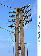 Telegraph pole - An old telegraph pole