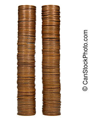 Two coin towers