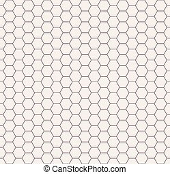 Abstract black and white honeycomb seamless pattern. -...