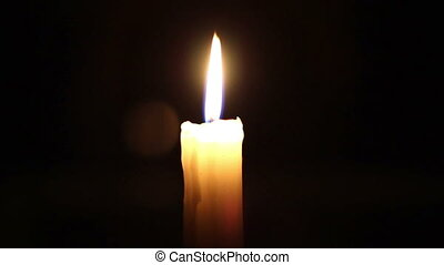 Burning candle - High quality and resolution